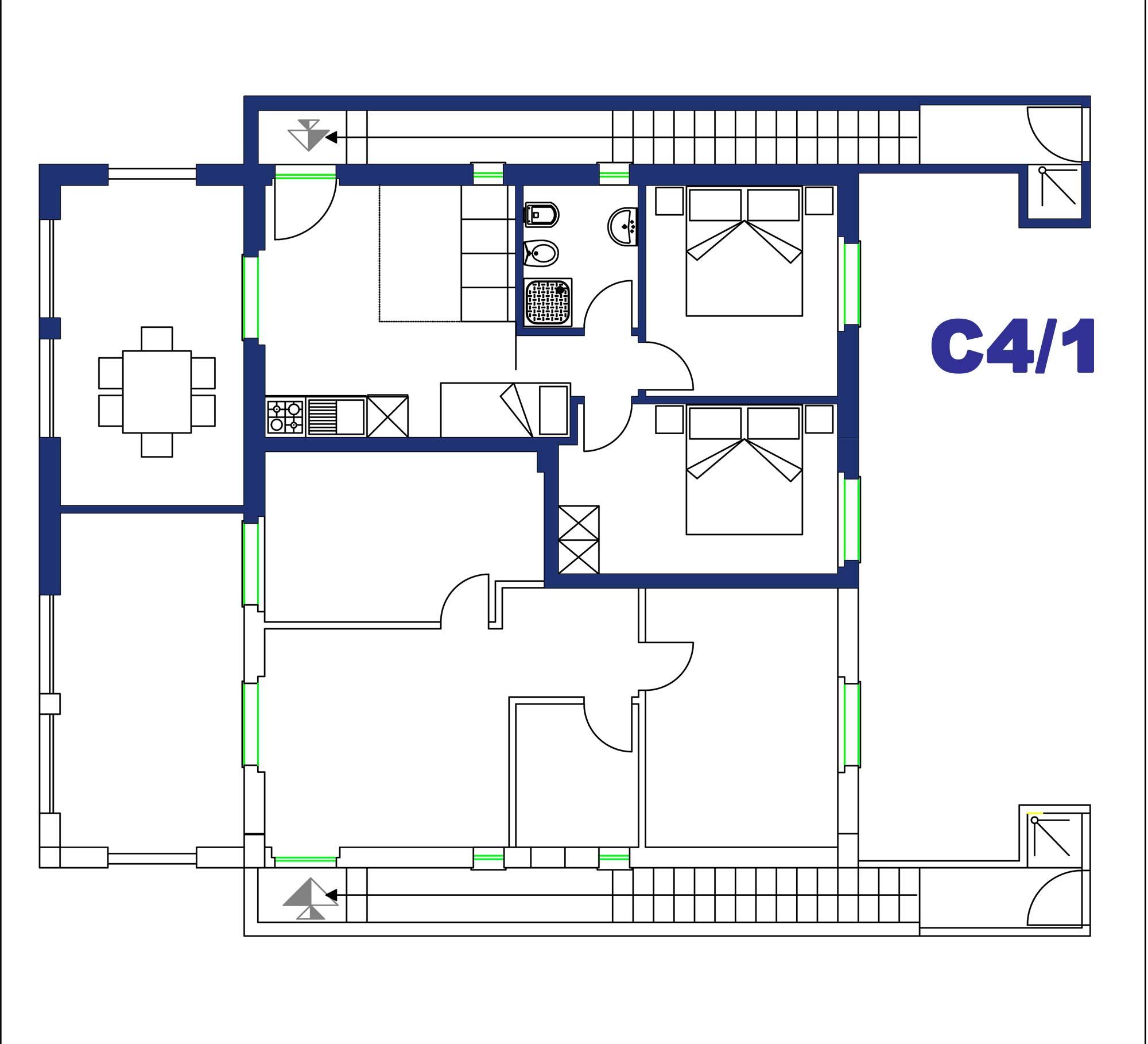 Appartamento in affitto per famiglie con bambini