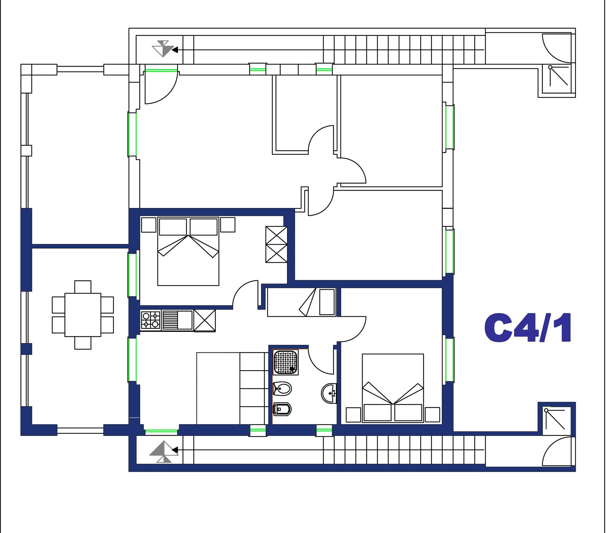 Appartamento per quattro persone in affitto
