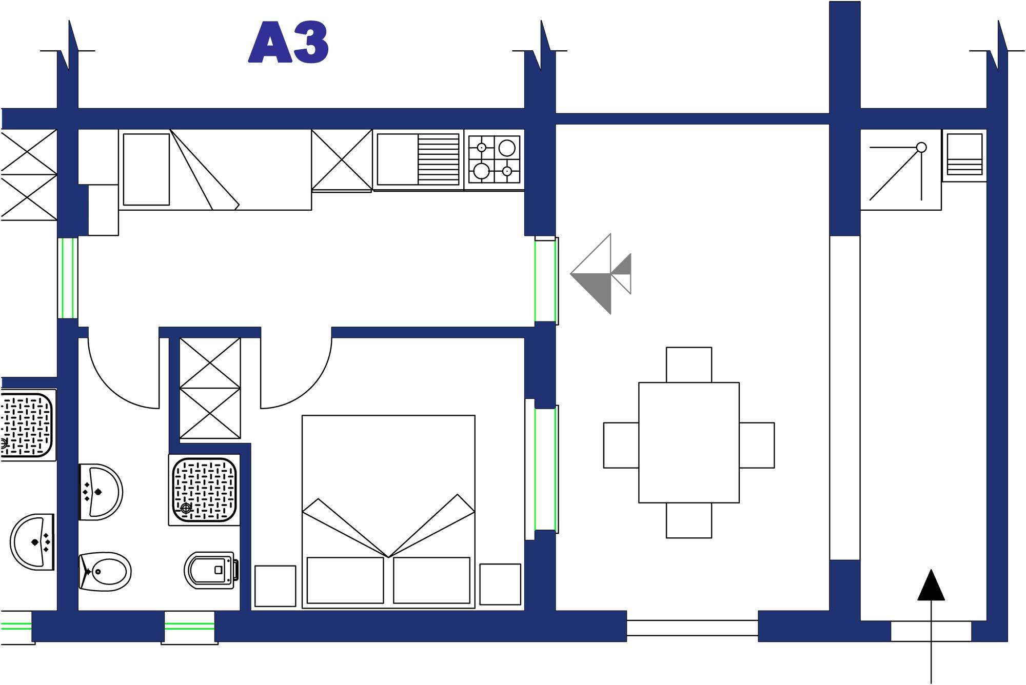 Appartamento in affitto nella stagione estiva per tre persone