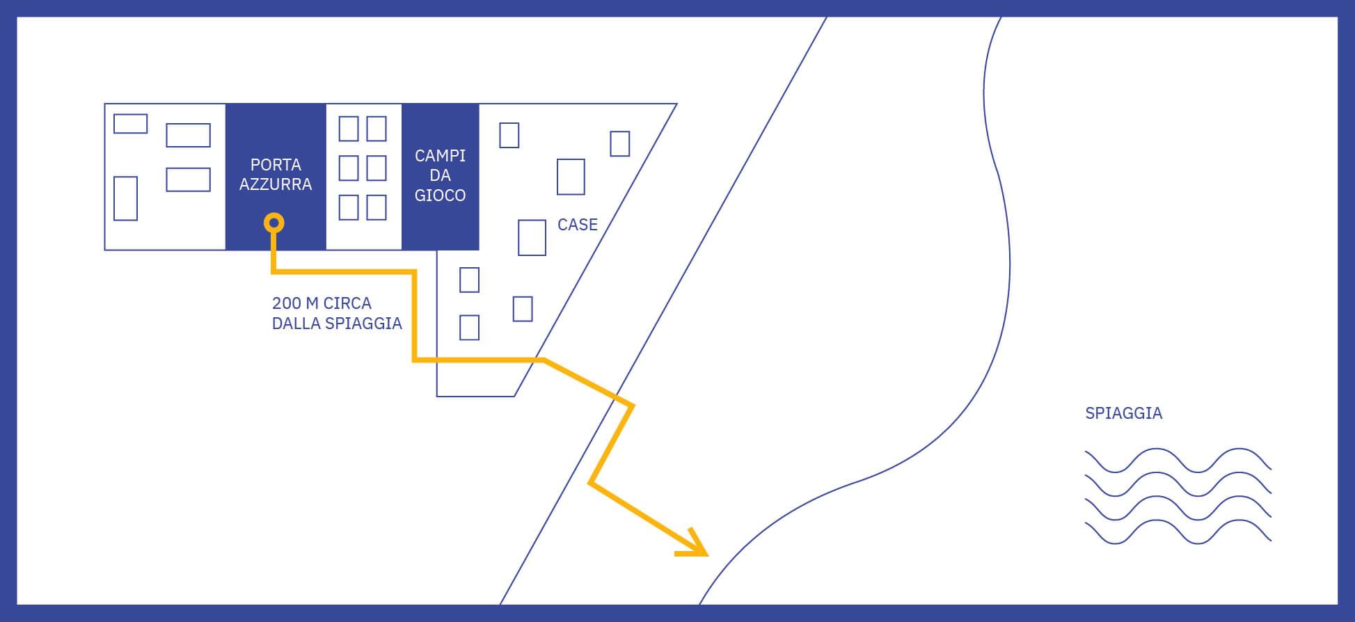 Mappa degli appartamenti Porta Azzurra, case vacanze in Calabria